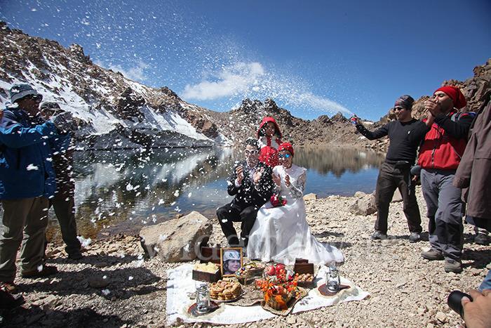 عروسی در قله سبلان