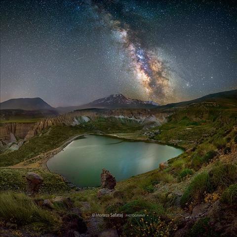 راه شیری از قله سبلان