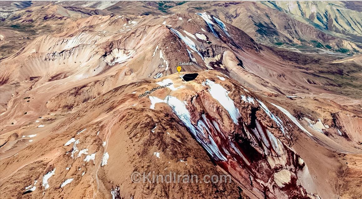 Sabalan, volcanic mountain in north-western Iran