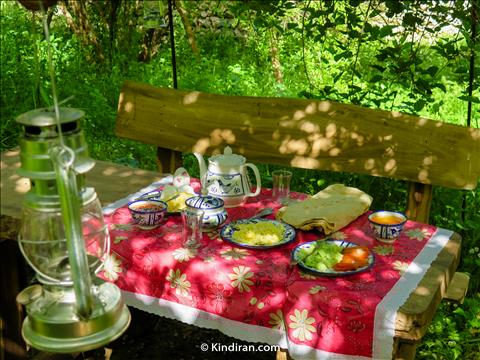 Breakfast, Elimat Eco-tourism accommodation, Izeh