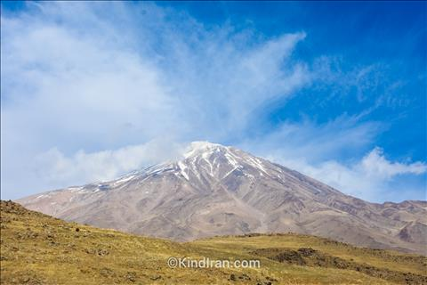 Damavand is visible far from 250 km in a clear sky