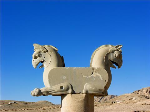 Griffin capitals in Persepolis