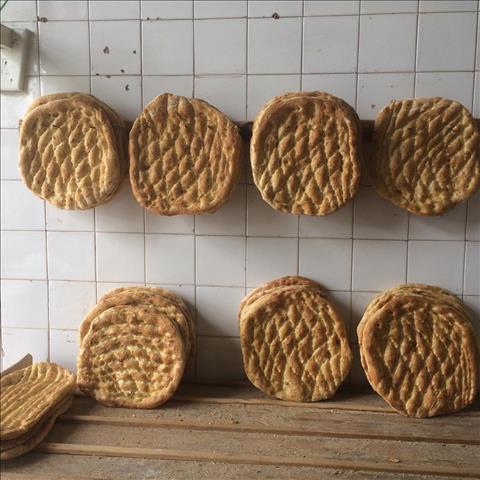 نان بربری گرد