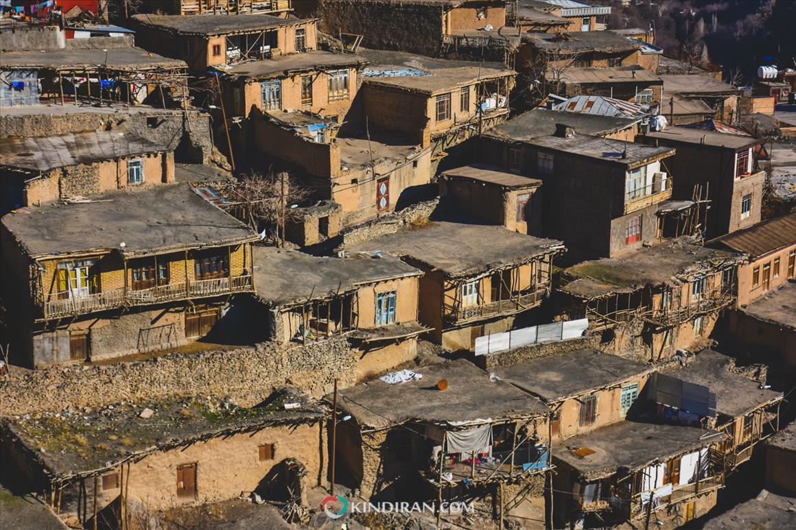 Kang village leaning on Binalood mountain