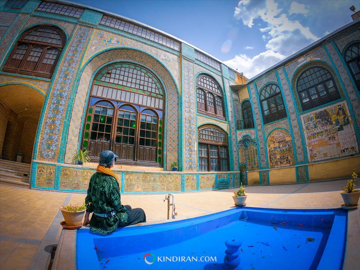 Miniature art and mirror work on Kermanshah's Tekyeh