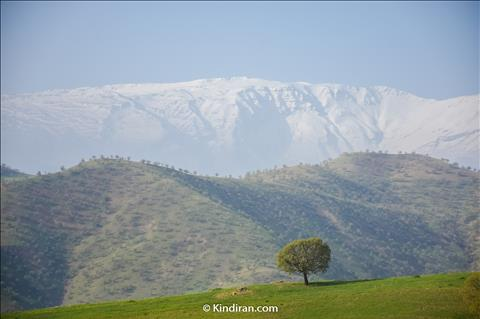 A Snowy view of Zagros Montain in April