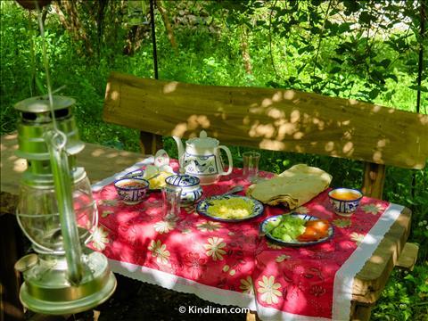 Breakfast, Elimat Eco-tourism accommodation, Izeh