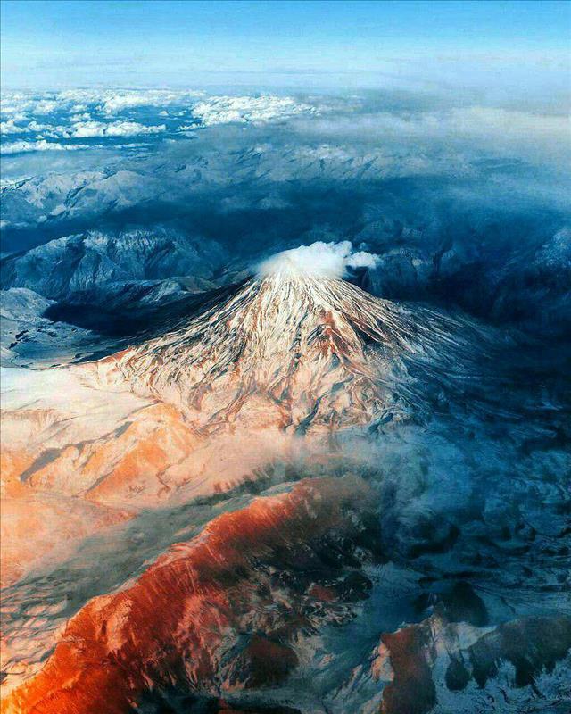 تصویر هوایی از دماوند
