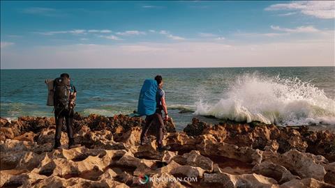 فواره طبیعی ساحل دریا بزرگ