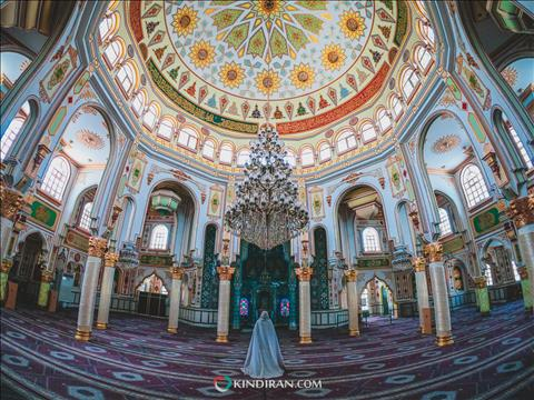 Brilliant architecture of Shafi'i mosque in Kermanshah